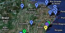Mapa da localização da Prominas